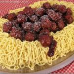 Spaghetti and Meatballs Lookalike Cake