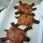 Bacon cheese turtle burgers