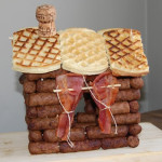 Breakfast Log Cabin – Bacon, sausage, waffles