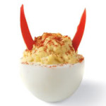 Silly deviled egg creations – Which came first, the chicken or the egg?