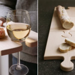 Puzzle board cutting boards – Cut your bread and eat it too…with a glass of wine