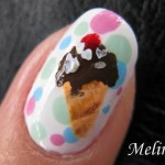 Ice cream nail art – No biting your nails!