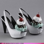 Your sundae best – Shoes with ice cream, whipped cream, and a cherry on top