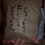 Kentucky Fried Chicken sack lunches