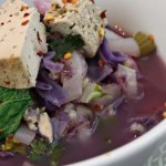Beetlejuice, beetlejuice, beetlejuice! – Purple cabbage and tofu soup