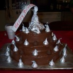 Say it with a Kiss – Hershey Kiss birthday cake