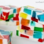 Stained glass jello blocks