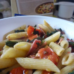 Back of the box recipes- Penne Pasta with Spinach & Tomatoes