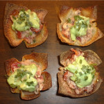 Salmon guacamole wonton cups – Work what ya pantry gave ya