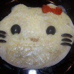 Hello Kitty tortilla pizzas