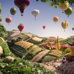Food landscapes – Broccoli trees, filet of fish sea, foodscapes, mmm