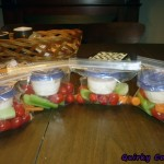 Individual veggie trays for travel – Bento box style!