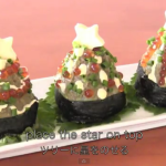 Christmas tree sushi -Deck the halls with boughs of Japanese mayo