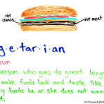 What is a vegetarian? Oh…that…