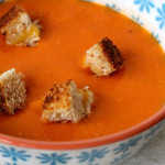 Grilled cheese sandwich croutons & tomato soup
