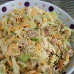 Big Mac salad – Special sauce, lettuce, cheese, pickles, sesame seeds!