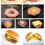 Fry an egg in a burger