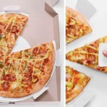 Mini-paper plates in delivery pizza box insert