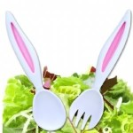 Lucky rabbit's…ear? – Salad tossers for Easter