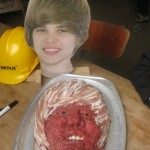 Justin Bieber meat baby head