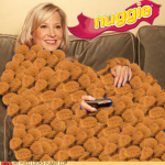 What do you do when you're both hungry and cold? Nuggie to the rescue!