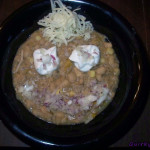 White chili smiley faces  – Is it winter comfort food time already?