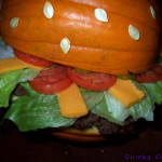 Giant Halloween pumpkin burger – Trick or treat?