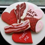 Meaty V-Day cookies for men