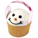 Frosty upgraded his old silk hat – Cupcake earmuffs