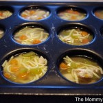 Freeze soups in muffin tins