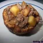 French toast apple and sausage muffins