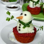 Mashed potato snowmen – Pass the gravy please!