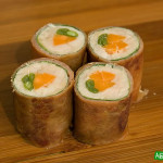 Fried pork shiso rolls – Bento meat sushi rolls*