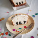 Slice open a typography cake for a surprise – Yay!