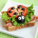 Cute as a bug BLT sandwich