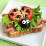 Cute as a bug BLT sandwich