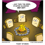 The scariest toast story (Wordless Wednesday)